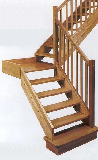 95 for Como hacer una escalera de madera economica