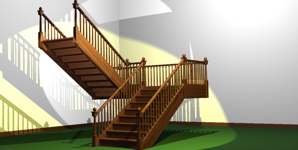 95 for Escaleras de madera de dos tramos